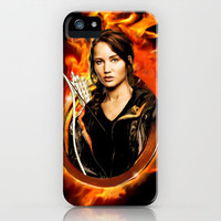 Hunger Games: Girl on Fire iPhone & iPod Case by SRB Productions
