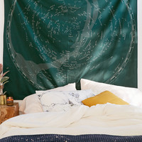 Glow-In-The-Dark Constellation Map Tapestry   Urban Outfitters