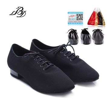 Sneakers Salsa Dance Shoes Men Shoe Square dance Social dance Ballroom Latin shoes 309 Modern shoes Hot Oxford Cloth Heel 25mm