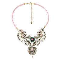 Pastel Pink Statement Necklace - Happiness Boutique