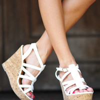Walk In My Wedges: White | Hope's