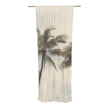 "Catherine McDonald ""Boho Palms"" Coastal Trees Decorative Sheer Curtain"