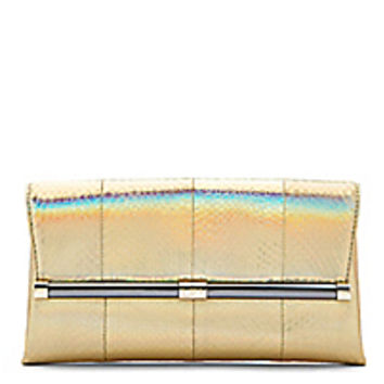 DVF 440 Envelope Metallic Snake Clutch