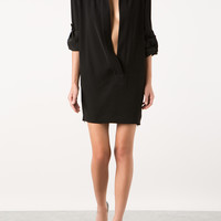 ALEXANDRE VAUTHIER BLACK CREPE DRESS