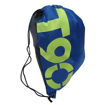Blue T90 Double Layer Drawstring Waterproof Gym Bag