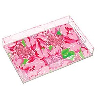 Large Acrylic Serving Tray in Holiday Twinkle by Lilly Pulitzer