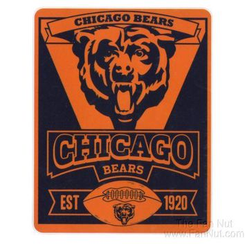 "Chicago Bears Marquee Large Lightweight 50""x60"" Fleece Throw Blanket Football"