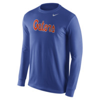 Nike College Wordmark (Florida) Men's Shirt Size Small (Blue)