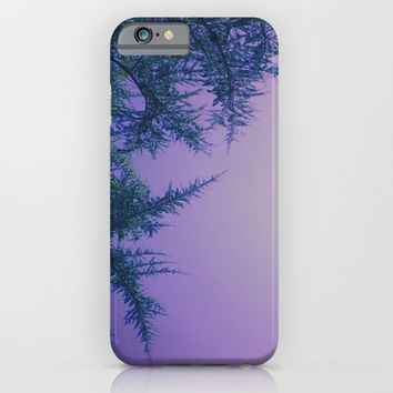 Lavender Skies, Green Trees iPhone & iPod Case by DuckyB (Brandi)