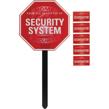 Ge Security Yardstake Sign With Window Stickers