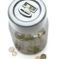 E & B Giftware Digital Coin-Counting Money Jar (Black):Amazon:Software