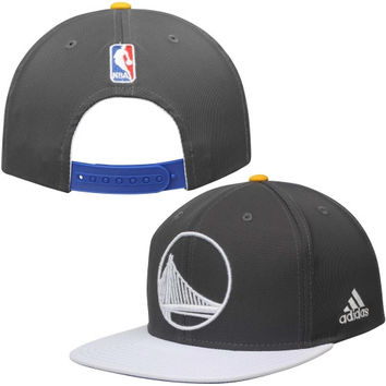 Golden State Warriors adidas Alternate Jersey Snapback Adjustable Hat – Gray/White