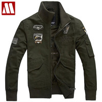 Men's latest Air Force One military uniform jacket frock jacket cotton jackets eagle big yards