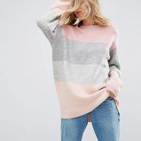 ASOS Sweater in Block Stripe at asos.com
