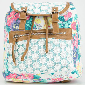 Daisy Lace Floral Backpack White Combo One Size For Women 25184816701