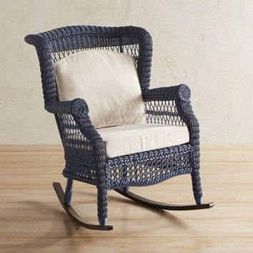 Sunset Pier Denim Blue Rocking Chair