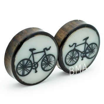 "1 7/8"" (48mm) Fixie on Bone and Bloodwood Plugs #2100"