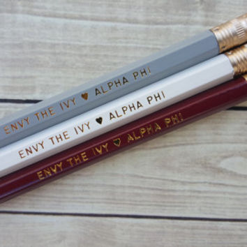 "ALPHA PHI ""Envy the Ivy""  3 Pack Pencil Set"