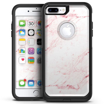 Pink Red Marble Surface - iPhone 7 or 7 Plus Commuter Case Skin Kit