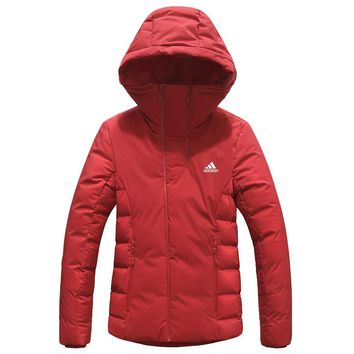 ADIDAS 2018 winter new casual outdoor sports women's down jacket Red