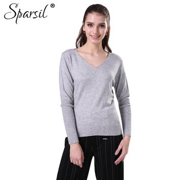 Women Winter Big V-Neck Cashmere Sweater Cashmere Knitted Pullover Lady Long Sleeve Soft Christmas Knitwear