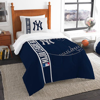 New York Yankees MLB Twin Comforter Set (Soft & Cozy) (64 x 86)