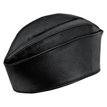 Genuine leather side cap aka wedge service garrison cover flight overseas envelope hat chip bider cover field