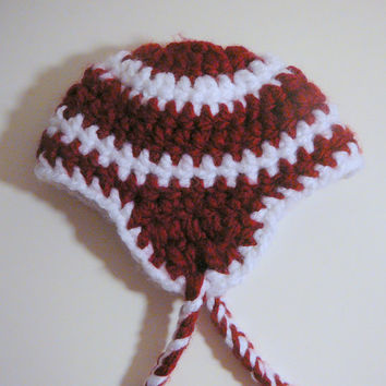 Chunky Earflap Hat - 0-3 Months