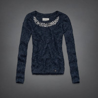 jeweled necklace sweater