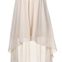 Grecian Glow Dress | White High-Low Gold Sequin Dresses | Rickety Rack