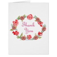 Thank You Pink And White Floral Decorative Art Card