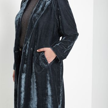 Contemporary Velvet Duster Jacket Plus Size