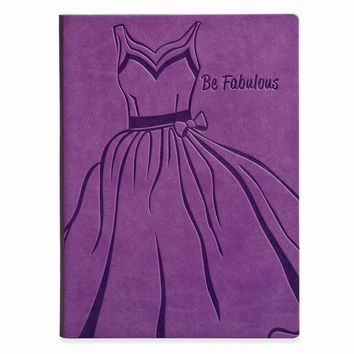 Be Fabulous Faux Leather Essentials Journal - Embossing Personalized Gift Item