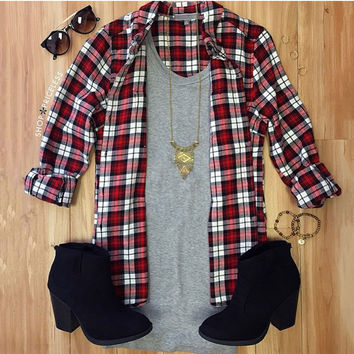 Plaid Romance Top