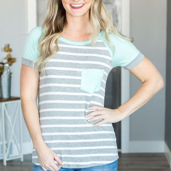 Spring Ahead Striped Short Sleeve Top - 2 Options