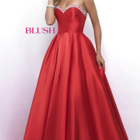 A-Line Strapless Long Prom Dress by Blush