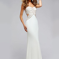 Faviana S7701 Dazzling Rhinestone Beaded Strapless Dress