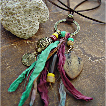 Boho Hippie Necklace - Boho Jewelry - Boho Gypsy Necklace - Yoga Necklace - Gypsy Jewelry - Yoga Jewelry - Ethnic Necklace