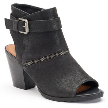 SONOMA life + style Women's Comfort Peep-Toe Ankle Boots (Black)