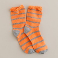 Girls' stripe ruffle socks