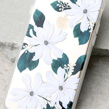 Sonix Delilah Clear and White Floral Print iPhone 7 Case