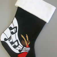 Music / Musical Christmas Stocking - Wrapped up in Music