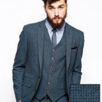 ASOS | ASOS Skinny Fit Suit Jacket In Blue Dogstooth at ASOS