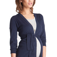 Seraphine Jasmine Cotton Maternity Cardigan Sweater