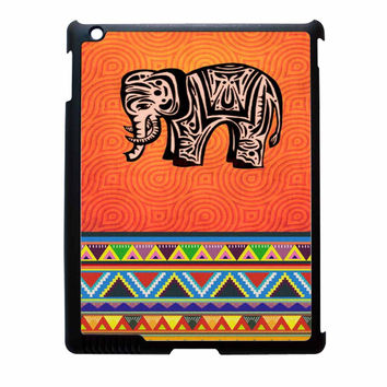 Hot Elephant And Aztec Design iPad 3 Case