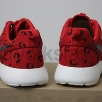 Nike Roshe Run Leopard Print Custom Mens