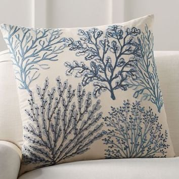 Layered Coral Pillow Cover