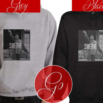 Swerve Hoodie Sweatshirt Sweater Shirt black and white Unisex