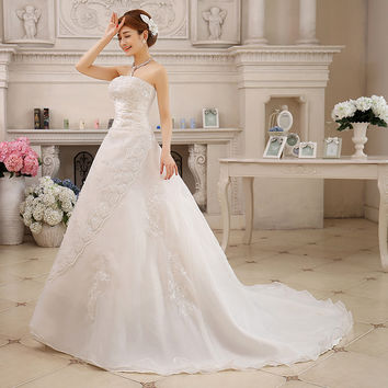 Free Shipping Cheap Robe de Mariee Sirene Vintage Belt Wedding Dresses 2017 Long Train Vestidos Plus Size Bridal Dress Casamento