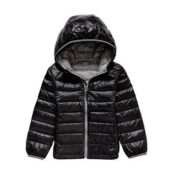 Boys & Girls Down Jackets for Winter Kids Thermal White Duck Down Coats Children Warm Outerwear Proof Cold